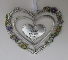 zzAa Nana you are loved Blooming Lovely 3d Heart Ornament ganz