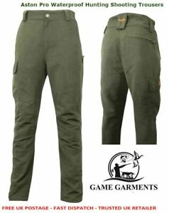 """Game Trousers Waterproof, Shooting, Aston Pro, Green 42"""" & 44"""" WAIST CLEARANCE!"""