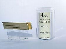 "40 Solid Brass Metal Collar Stays For Dress Shirts 2.5"" Inch Jake's Medium"