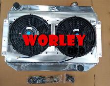 Alloy Radiator Holden Torana HQ HJ HX HZ HK Kingswood Chevy V8+Alloy Shroud+Fan