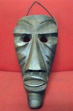 Tritico di Maschere in legno Sarde intagliate a mano