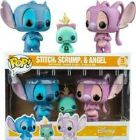 RARE Stitch Scrump & Angel 3 Pack Funko Pop Vinyls New in Mint Box