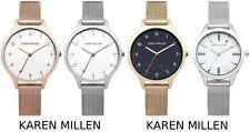 Karen Millen Mesh Strap Ladies Fashion Watch - Silver - Gold - Rose Gold