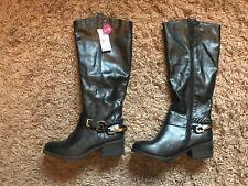 Primark Ladies Womens Knee High Boots (Black) UK Size 5