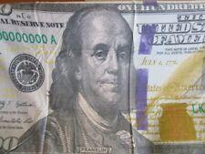 New 100 Ben Franklin One Hundred Dollar Bill Bath Beach Pool Towel Us Usa Money