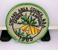 "Vintage BSA Chicago Area Council 1965 Spring Camporee 3"" Patch"
