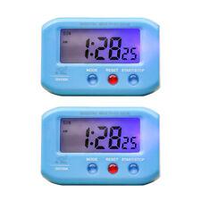 2pcs Battery Powered Quartz Clock Travel Car Clock Bedroom Table Desk Clock