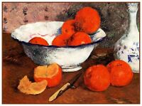 Gauguin's Still Life Bowl of Oranges Counted Cross Stitch Chart Pattern