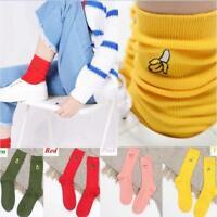 Newest Cartoon Warm Cotton High Socks 3D Fruit Embroidery Hosiery Women Sock