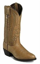 Nocona Mens 1413231403 Vintage Camel Elk Western Boots Made In USA 6EE
