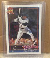 1991 Topps Frank Thomas #79 Baseball Card Chicago White Sox MLB HOF Hall of Fame