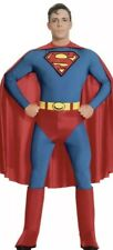 Adult 70s 80s Superhero Superman Mens Fancy Dress Stag Night Costume Party Outfi