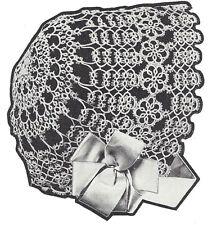 Vintage Tatting Crochet PATTERN to make Antique Baby Bonnet Hat Cap 1921TattedCB