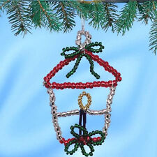 CHRISTMAS LANTERN BEADED Ornaments Kit SET of 6 ~ NEW