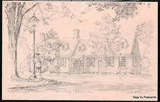 WILLIAMSBURG VA Chowning's Tavern Charles Overly Vtg PC Postcard