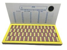 $1.00 BLANK Punch Card Money GAME Board Raffle Gambling 1,000 Hole W/ Magic Seal