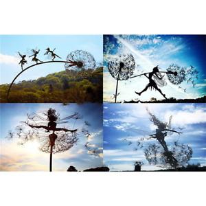 Dancing Fairy Landscape Dandelion Statue Ornament Garden Stakes Sculpture Decor