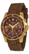 Victorinox Swiss Army Maverick Chronograph Brown Rubber Mens Watch 241692