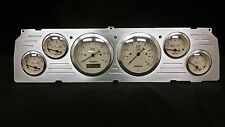 1964 1965 1966 CHEVY TRUCK 6 GAUGE DASH CLUSTER TAN