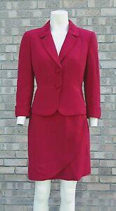 TAHARI by Arthur S Levine RED Skirt Suit .. US 10P fits UK 12