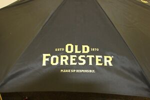 New Old Forester 7 foot Outdoor Patio Market Umbrella Black Wooden Pole