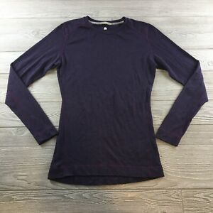 Smartwool womens xl Purple sweater top long sleeve