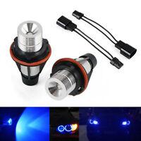 Canbus Angel Eyes LED Headlight Bulb Blue Fit For BMW E39 E61 E60 520i 525i 530i