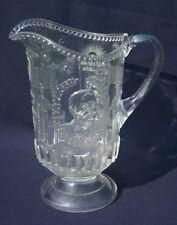 Antique Original Clear Glass Pitcher Admiral Dewey Olympia Spanish American War
