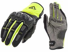GUANTI MOTO ENDURO CROSS ACERBIS CARBON G 3.0 NERO GIALLO FLUO GLOVES TG L