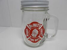 Dewitt Fire Department mason jar collection mug  /  /  money bank