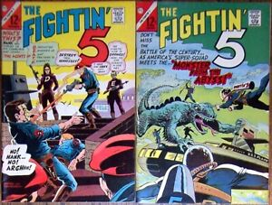 The Fightin' 5 #40 & 41 (Charlton 1966 1967) Peacemaker begins 1st app. Lot of 2