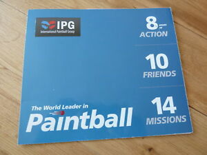 IPG International Paintball Grp UNLIMITED 10 Tickets Plus 1000 Free Paintballs