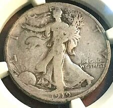 1919-D Walking Liberty Half NGC VG8 Great for Grade CHN