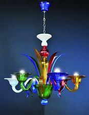 Multicolor lustre en verre de Murano 6 lumières