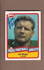 AUTOGRAPHED Jim Ringo Hall of Fame card - Green Bay Packers Syracuse AUTO SIGNED