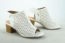 d14bfa018927 NEW Women s Peep Toe Cut Out Strap Low Chunky Heel Sandal shoes Different  Size