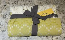 West Elm Citrus Yellow Diamond Dot Warmest Throw