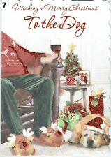 TO or FROM THE CAT OR DOG  ~ Quality PET CHRISTMAS Card ~ CHOICE of DESIGN
