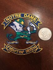 """Notre Dame Fighting Irish Vintage Embroidered Iron On Patch 3"""" X 3"""""""