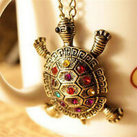 Women New Fashion Turtle Pendant Necklace Vintage Cute Sweater Chain Necklace HF