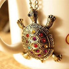 Women New Fashion Turtle Pendant Necklace Vintage Cute Sweater Chain NecklaceFC