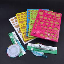 DIY Paper Quilling Tools Kit Mould Pin Needles Tweezer 1 Set Random Colour Gift
