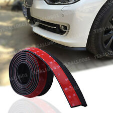Car Bumper Lip Splitter Body Spoiler Skirt Trim Chin Rubber Protector 100 inch