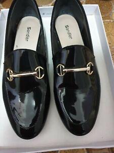 Sandler loafer black patent size 8b shoes