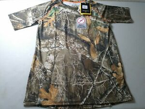 Realtree Short Sleeve Performance Raglan Tee w/Insect Repellent Technology Small