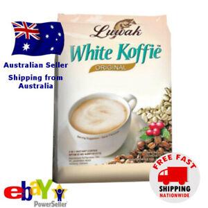 Luwak White Koffie Civet 3 in 1 Instant Coffee Original 18 satchets x 20g Halal