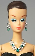 Barbie Doll Vintage FR Silkstone Emerald  Necklace Earrings Jewelry Set NE2163