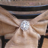 Jute BURLAP Ribbon for Wedding Chair Sashes Table Runner 7 Inch Wide x 3 Yards