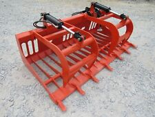 "Kubota Skid Steer Tractor Attachment - 72"" Rock Bucket Tooth Grapple - Ship $149"