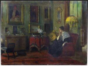 IMPORTANT Oil Painting, 1900-07 Interior, American Impressionist Frederick VEZIN